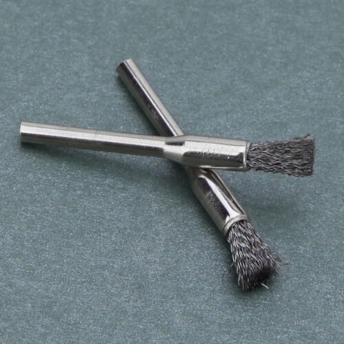 10x 3mm Rotary Steel Wire Wheel Brush Cup Tool Shank for Drills Rust Weld T6V5 12
