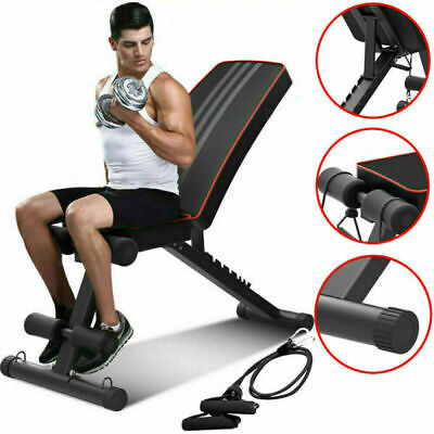 Adjustable Fitness Weight Bench Multi Gym Dumbbell Folding Flat Incline Decline 2