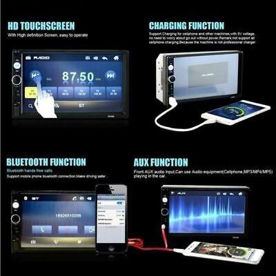 "7 ""Doppel Autoradio Stereo MP5 MP3 Player 2Din Bluetooth USB FM AUX IN + Rahmen 8"
