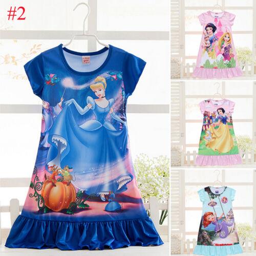 Kid Baby Girl Nightdress Summer Princess Pajamas Nightwear Nightie Nightgown New 4