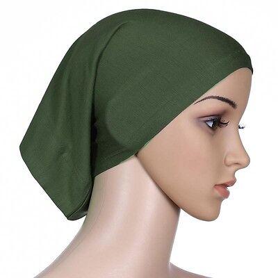 Muslim Women Hijab Under Scarf Inner Cap Bone Bonnet Neck Cover Cap Head Wrap 4