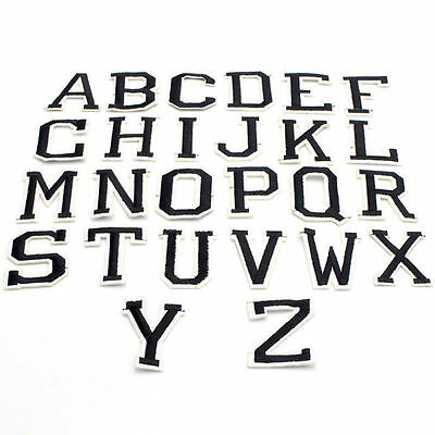 """Embroidered Alphabet Letters Patch, 2"""",  Letter Patches, Block Letters"""
