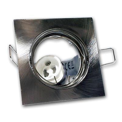 5 X Luminaire à Encastrer Carré Pivotant Gu10 230v Satiné Spot Encastré Gu 10 2
