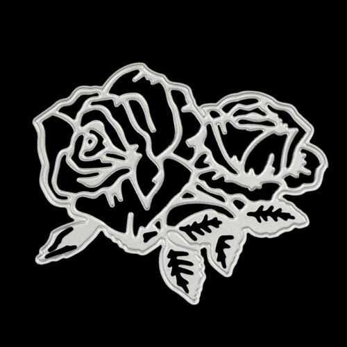 rose flower metal cutting dies stencil scrapbook album paper embossing craf S* 4