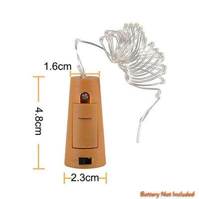 10 20 30 LED Cork Shaped Copper Wire String Light Wine Bottle For Decor RD494 5