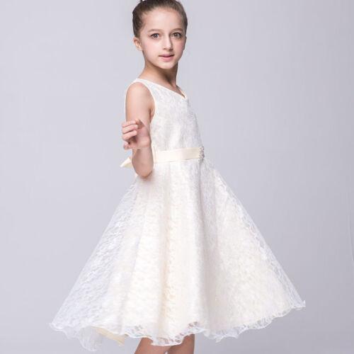 premium selection ba7fb 9d05a KINDER MÄDCHEN FESTKLEID Spitzenkleid Festliches Kleid Lace Weihnachten  Hochzeit