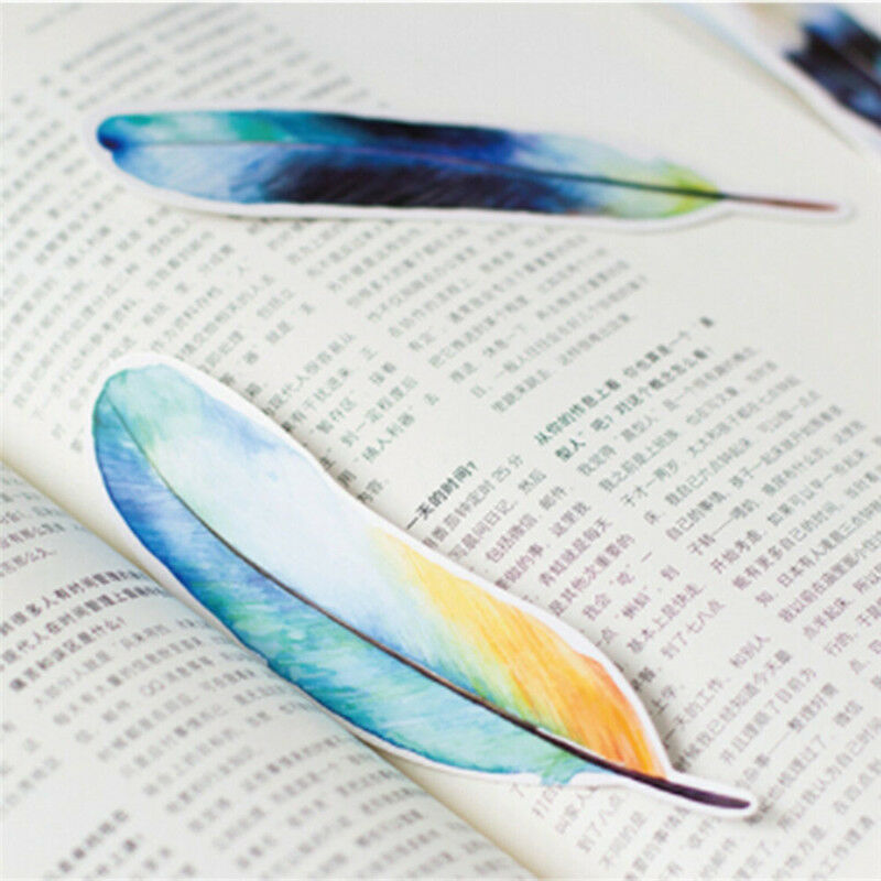 30 Pcs/lot Colorful Bookmark Feather Bookmark Cartoon Animals Gift Pack Cute 6