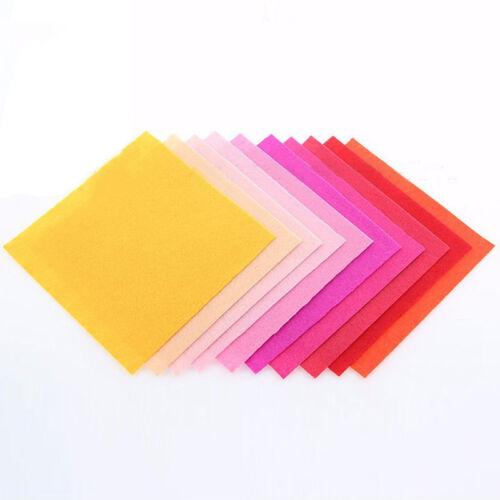40pc /set Stoffa colorata in feltro non tessuto fatto a mano 40 fogli 15 * 15 cm 2