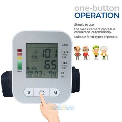 Automatic Digital LCD Arm Cuff Blood Pressure Pulse Monitor Sphgmomanometer NEW 3