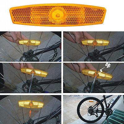 4stk Fahrrad Reflektor Sicherheit Speichenreflektoren Felgenreflektoren Neu T6D2