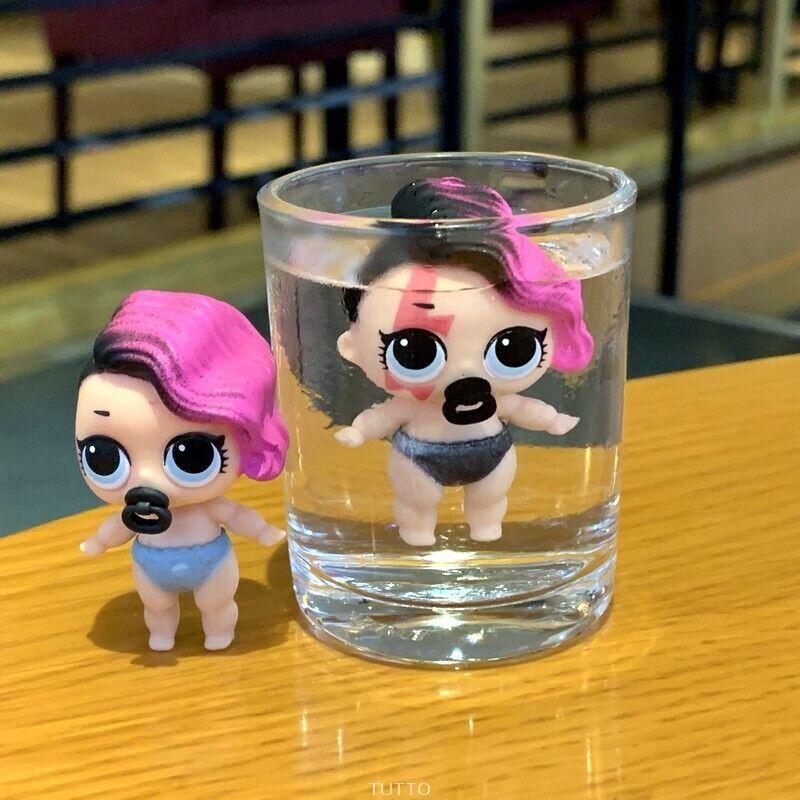 LOL Surprise Doll * Series 2 * Lil Little Sisters * Rocker Pink & Black Hair 5