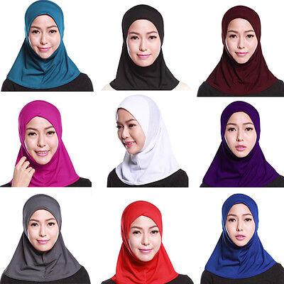 Donna Sotto Sciarpa Cappello Cappello Ninja Hijab Islamico Collo Copertura 3