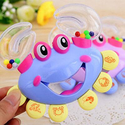 Kids Baby Crab Design Handbell Musical Instrument Jingle Shaking Rattle Toy ESUS