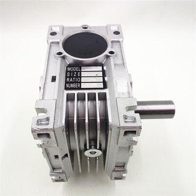Worm Gear Reducer RV040 NEMA24/34 Speed Gearbox 10 15 20 25 30 40 50 60 80 100:1 11