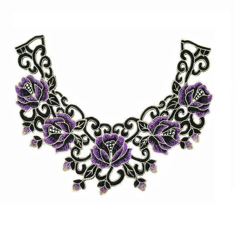 Floral Lace Collar Trim Embroidery Neckline Appliques for Sewing  Scrapbooking 4