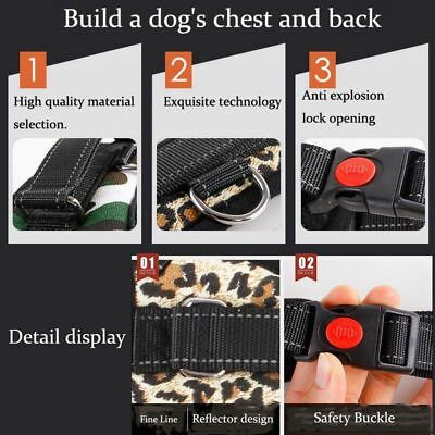 Non-Pull Dog Harness Adjustable Pet Puppy Walking Strap Vest Soft Chest Belt UK 7