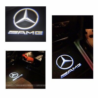 Projector Door CREE LED Courtesy Light Puddle Ghost Laser LOGO For Mercedes Benz 6