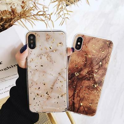 For iPhone 8 7 Plus XS Max XR Marble Shockproof Silicone Protective Case Cover 3