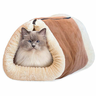 2in1AMAZING MAGIC SELF HEATING THERMAL PET TUNNEL BED CAT DOG PUPPY & WARM MAT 3 • EUR 8,73