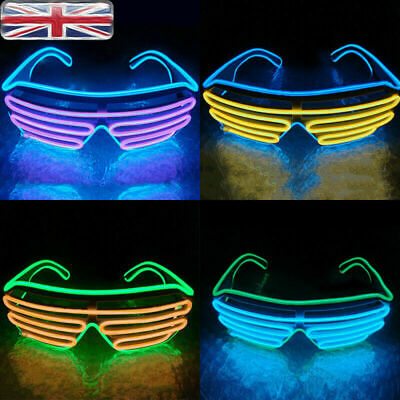 LED EL Wire Glasses Light Up Glow Sunglasses Eyewear Shades for Nightclub Party 5
