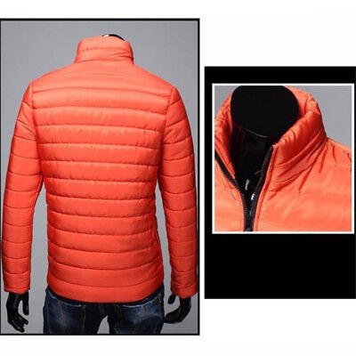 US Mens Warm Stand Collar Down Jacket Parka Coat Slim Winter Zipper Coat Outwear