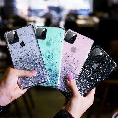 For iPhone 11 Pro XS Max XR X 8 7 Plus Glitter Shockproof Protective Case Cover 4