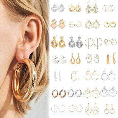 Fashion Women Metal Geometric Pendant Dangle Drop Statement Earrings Jewelry 9