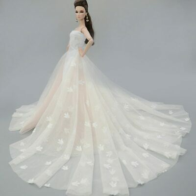 Colorful Floral High Fashion Doll Clothes for 1/6 Doll Wedding Dress Party Gown 10