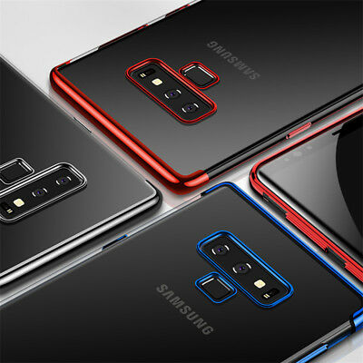 For Samsung Galaxy Note 9 S8 9 S10 Plating Soft Silicone Hybrid Clear Case Cover 7