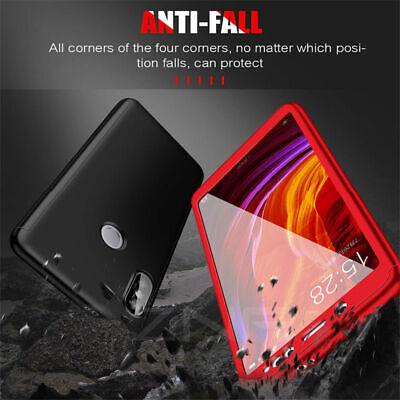 For Xiaomi Redmi 7 7A 6A Note 8 7 6 5 Pro 360° Full Cover Case + Tempered Glass 6