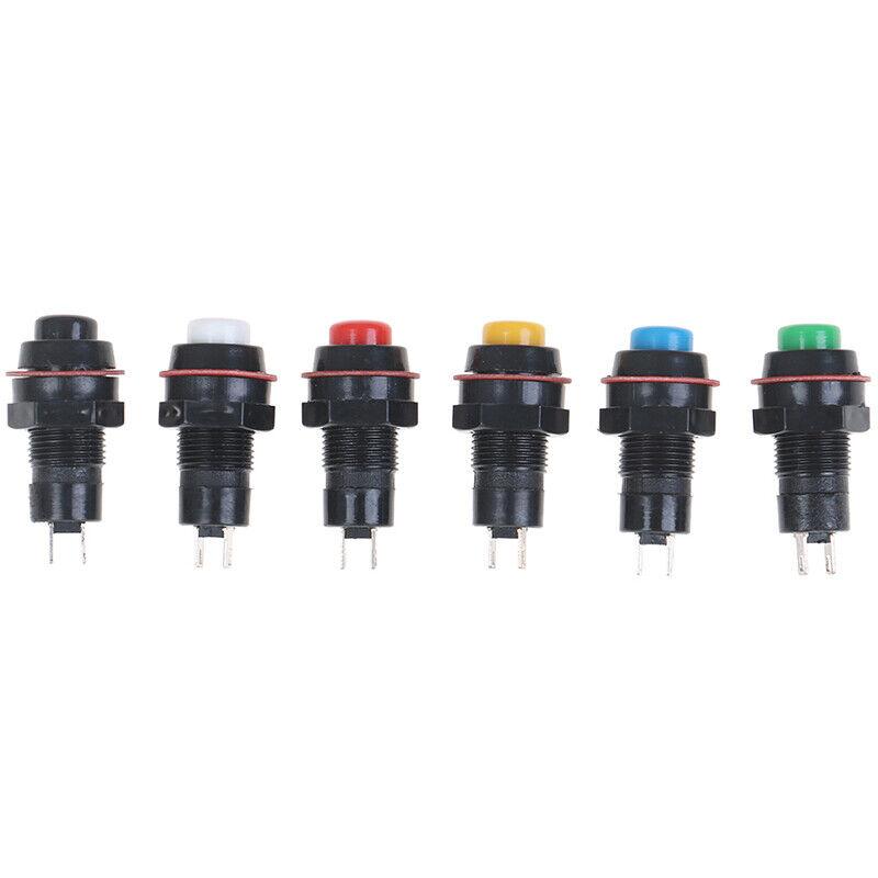 5Pcs Self-reset Push Button Switch Self Return Momentary Push Button Switch 10mm 4