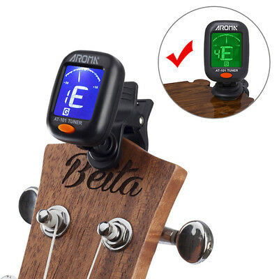 Electric Tuner Lcd Clip On Chromatic Acoustic Electric Bass Ukulele Banjo&Guitar 8