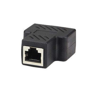 1 à 2 LAN Ethernet réseau RJ45 répartiteur prolongateur connecteur adaptateur~PL 6