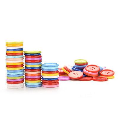 100 Stück Mischfarbe Tasten 4 Löcher Kinder DIY Handwerk 10mm 5 Größen BCDE 5