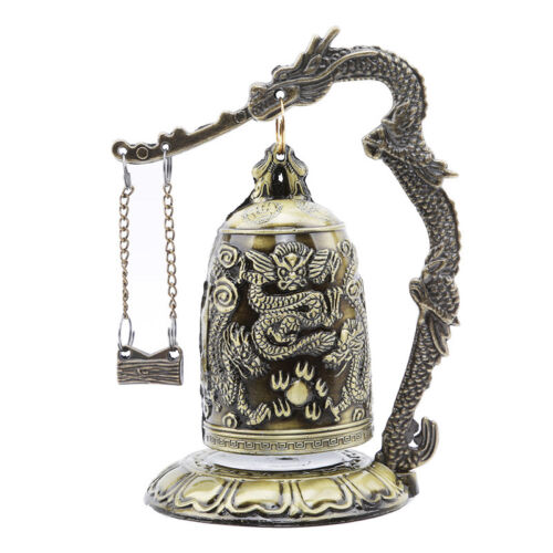 Gift Bronze Lock Home Decoration Retro Ornament Chinese Style Hit Dragon Bell 8