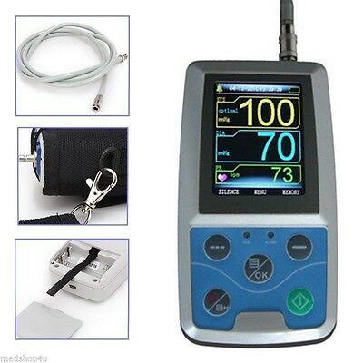 24h NIBP Holter Ambulatory Blood Pressure Monitor ABPM50,SW,free 3 Cuffs,US ship 5