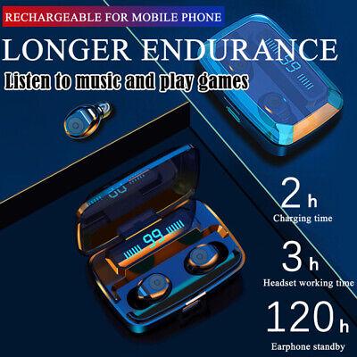 Bluetooth 5.0 Headset TWS Wireless Earphones Mini Stereo Headphones LED Earbuds 5