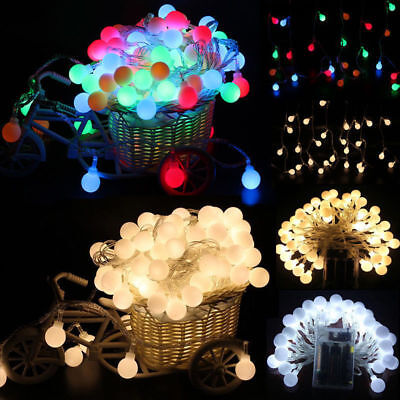 Fairy LED String Lights Christmas Round Ball Blubs Wedding Party Lamp 3M 4M 5M 3