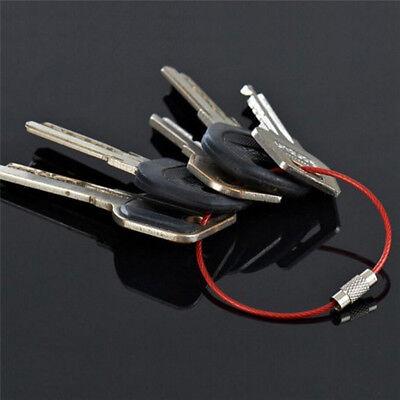 Catene dell'anello chiave 5x acciaio inox filo portachiavi cavo escursione`ester 5