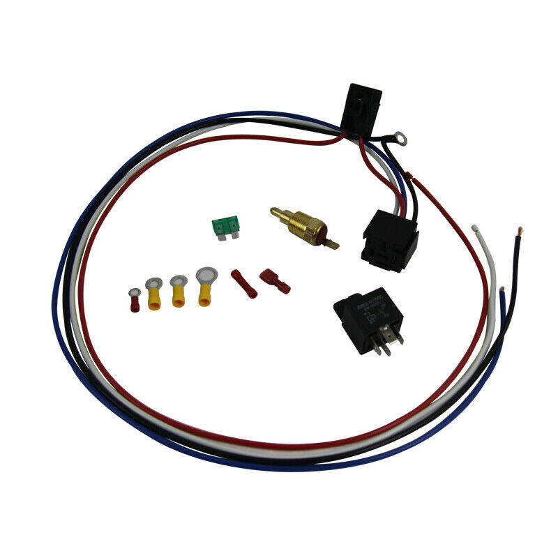 Electric Cooling Thermostat Relay Fan Kit Sensor Temperature Switch Wiring 2