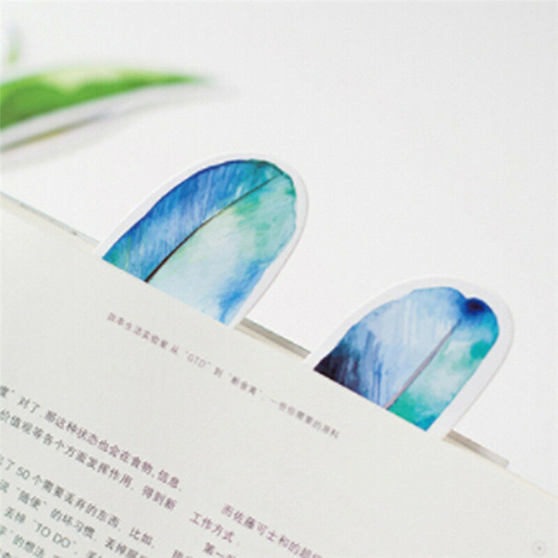 30 Pcs/lot Colorful Bookmark Feather Bookmark Cartoon Animals Gift Pack Cute 7