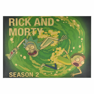 Anime Rick And Morty The Last Supper Kraft paper Poster Cafe Decoration Vintage 8