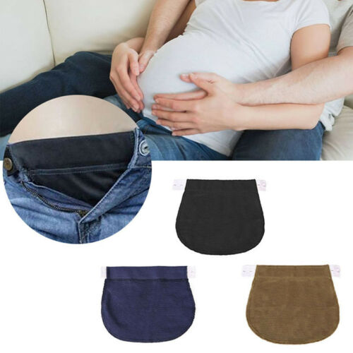 2PCS Maternity Pregnancy Waistband Belt Adjustable Jean Waist Pants Extender AU 3