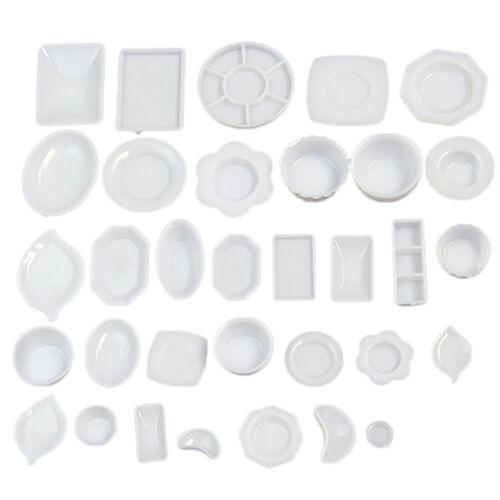 33pcs/Set Dollhouse Miniature Tableware Plastic Plate Dishes Set Mini Food 2017 12