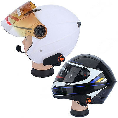 2x Motorcycle 1000m BT-S2 Bike-to-Bike Bluetooth Interphone Intercom Hands-free