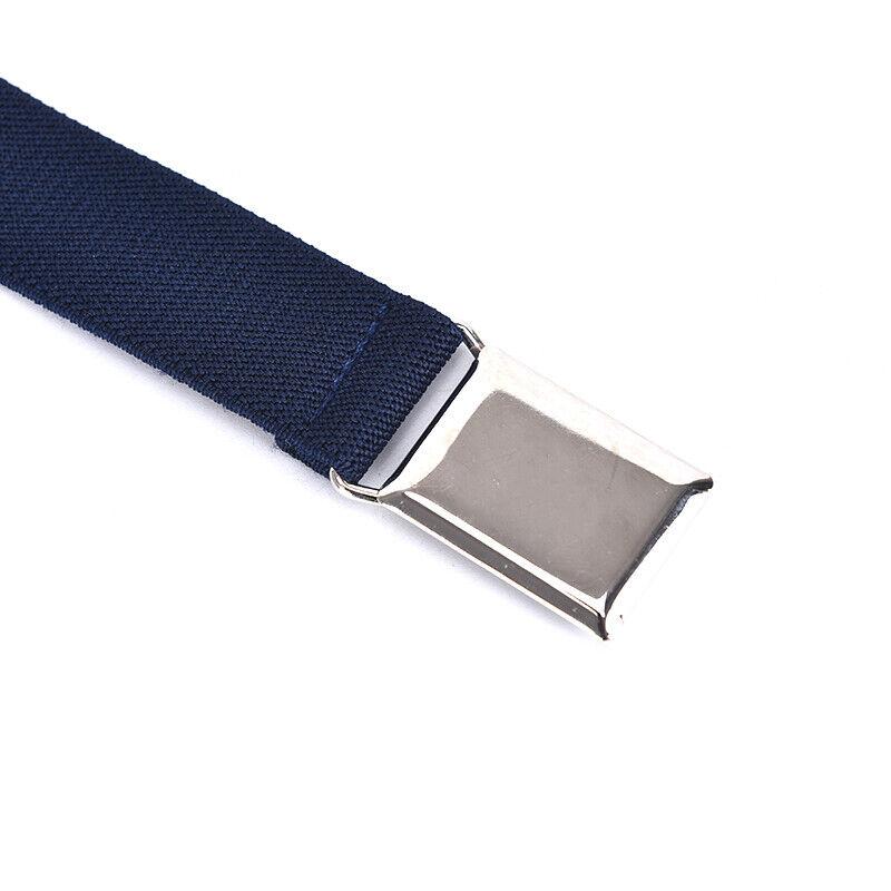 Children Solid Color Unisex Canvas Belts Boys Girls Elastic Belt Adjustable MC 11