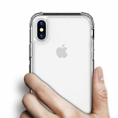 Antichoc Bumper Silicone Housse Coque iPhone XS Max 2018 XR X 8 Plus 7 Plus 6s 5 5