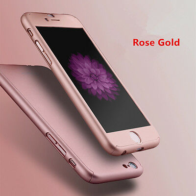 Hybrid 360° Tempered Glass + Acrylic Hard Case Cover For iPhone 6 7 6s 7 Plus 5s 6