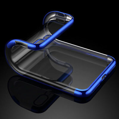 For iPhone X 8 7 6S Plus Case Electroplate Silicone Ultra Slim Clear Soft Cover 4