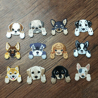 Sew On / Iron On Cute Dog Embroidered Patches Badge Dress Fabric Applique Craft 2